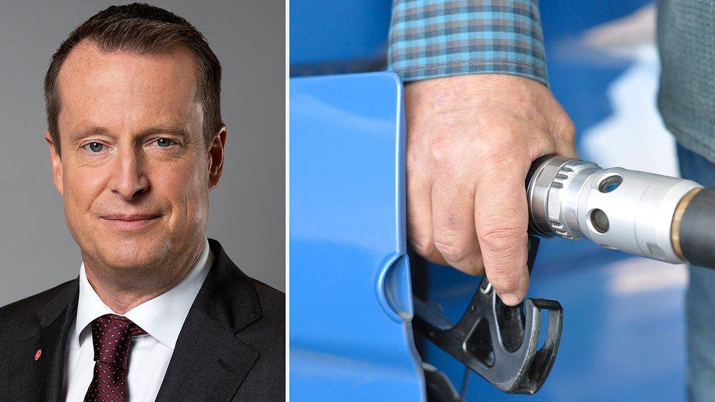 Energiminister Anders Ygeman (S) öppnar för att kompensera gles- och landsbygd för de ökade drivmedelspriserna. Foto kollage: Regeringskansliet/Pixabay.