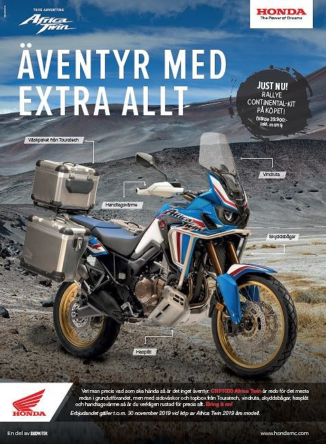 Honda CRF1000 Africa Twin Touratech-Kampanj