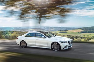 Mercedes-Benz S-Klasse, 2020, Outdoor, Fahraufnahme, Exterieur: Diamantweiß // Mercedes-Benz S-Class, 2020, outdoor, driving shot, exterior: diamond white