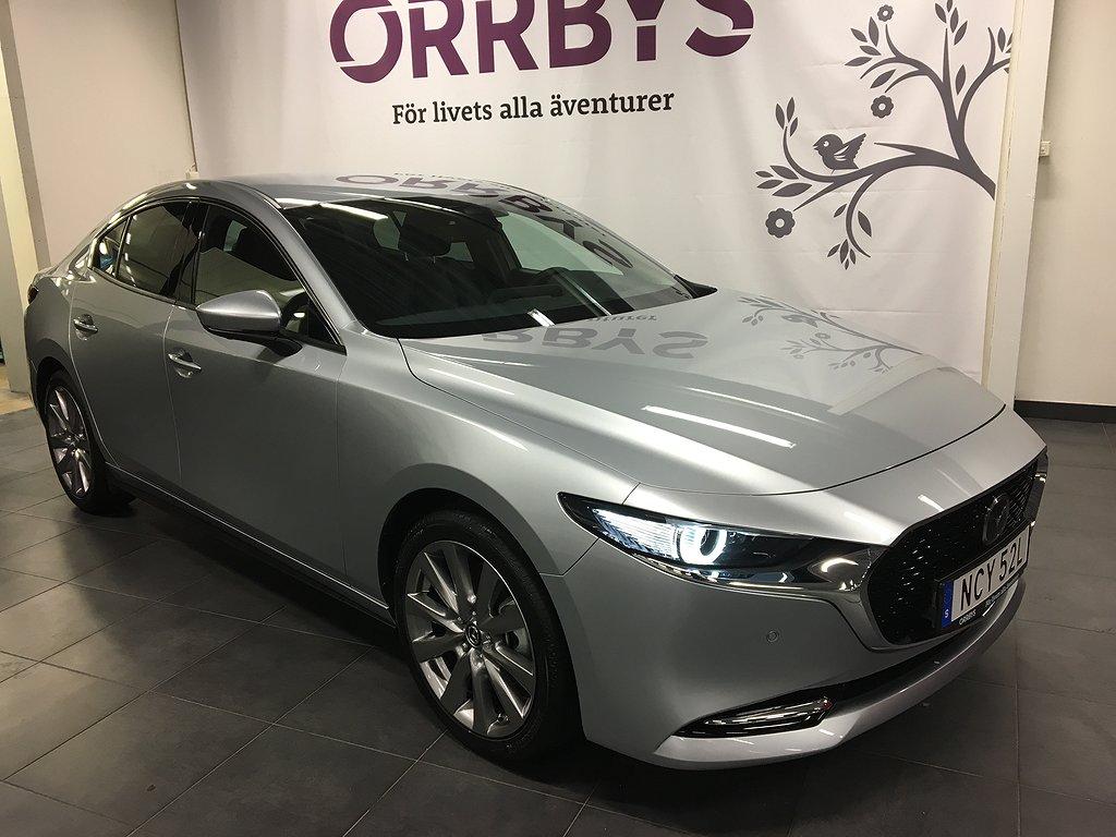 Mazda 3 Mildhybrid Sedan 2,0 180hk Cosmo Automat 10 års garanti, Gamla s