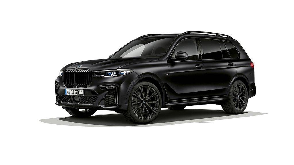 BMW X7 i Frozen Black metallic.