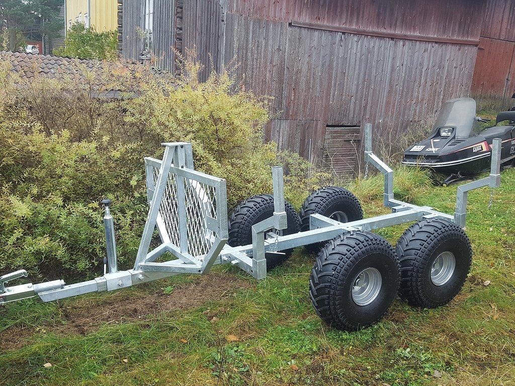 Allroad Timmervagn med kran och winch 13900 kr