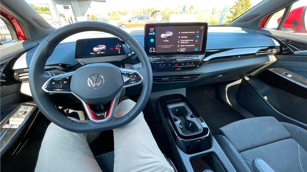 Framsätet på Volkswagen ID.4 GTX
