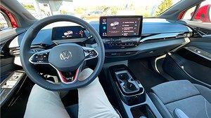 Framsätet på Volkswagen ID.4 GTX Foto: Anders Nilsson