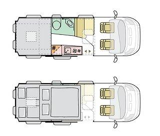 Husbil-halvintegrerad Adria Twin Sports 640 SGX 2 av 2