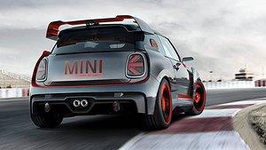 Mini John Cooper Works GP Concept röker på