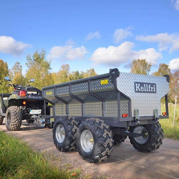 Övriga Tippvagn ATV 1420 kg elhydraulisk tipp inkl. lövblås