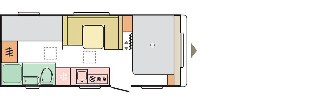 Adria Aviva 563 PT *Pluspaket* 3x Våningssäng - Adria