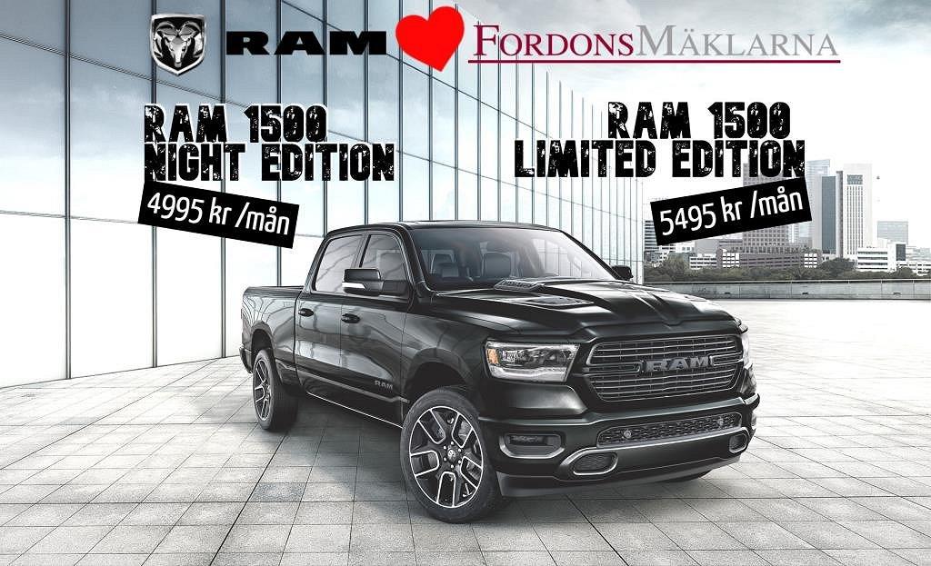 Dodge Ram CREW CAB NIGHT EDITION 4.995:-