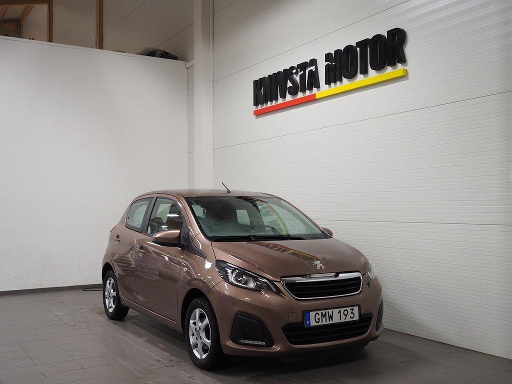 Peugeot 108 5-dörrar 1.0 VTi 69hk (M-värmare) 2015