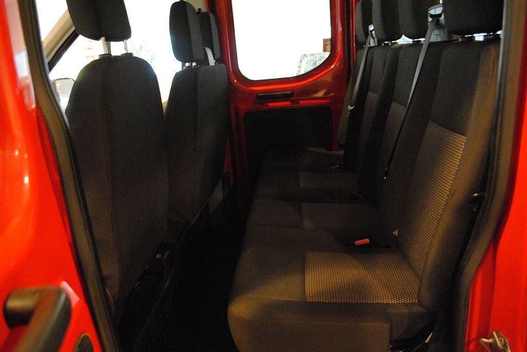Ford Transit 310 Chassi Dubbelhytt flak 2.2 TDCi 125hk 7-sitsig