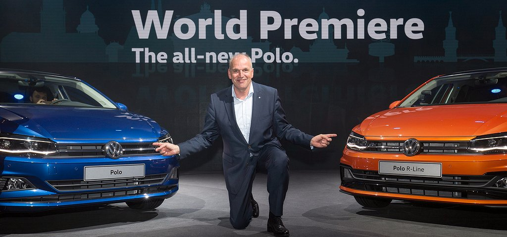 Jürgen Stackmann, Member of the Board of Management of the Volkswagen Passenger Cars brand with responsibility for 'Sales, Marketing and After Sales', presents the new Volkswagen Polo.