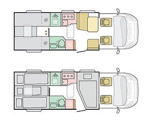 Husbil-halvintegrerad Adria Coral Axess 670 SL 2 av 2
