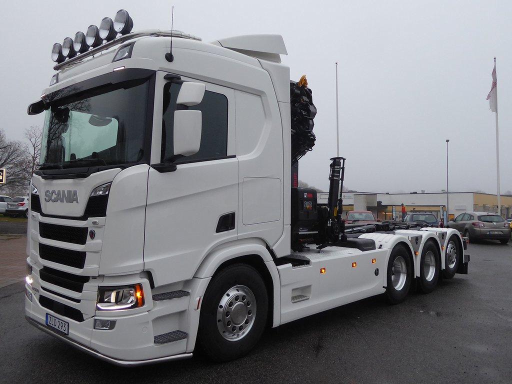 Scania G500 NG 8x4*4 Kran & Lastväxlare Tridem