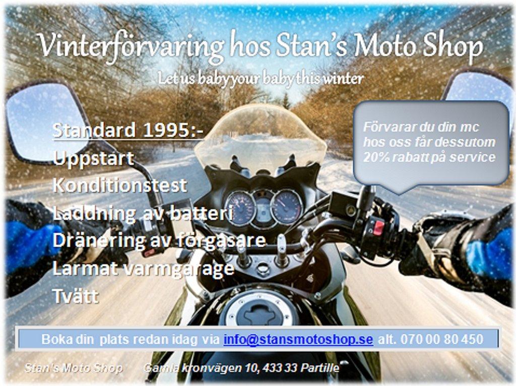 Övrigt Vinterförvaring MC hos Stan's Moto Shop