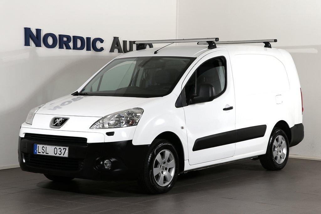 Peugeot Partner 1.6 HDi|90HK|3-Sits|Drag|Lång L2