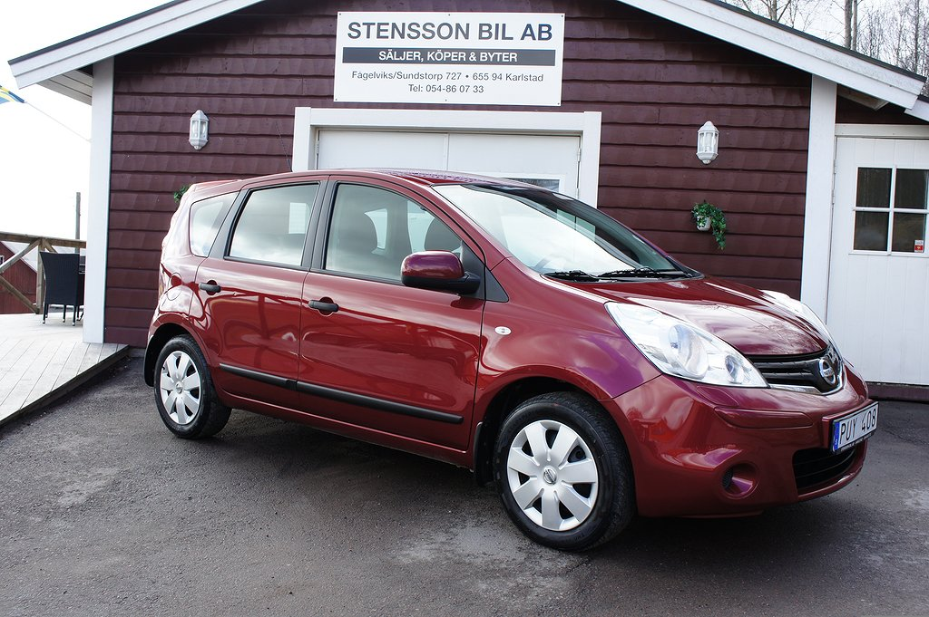 Nissan Note 1,4 5DR 88Hk AC, Fin.