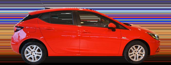 Modellbild av en Opel Astra 5-Dörrar